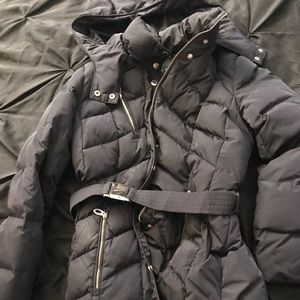 100% down navy blue Ivanka Trump puffer coat